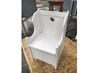 Childs chair with chest