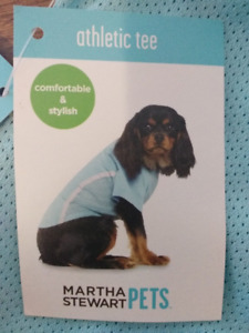NEW WITH TAGS Martha Stewart Pets Nylon Mesh Athletic Tee Size M