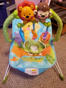 Baby bouncing vibrating chair