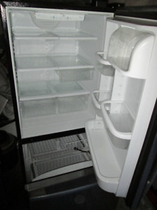 Stainless steel whirlpool fridge