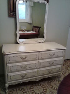 French Provincial white bedroom set solid wood