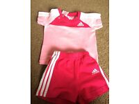 Adidas t-shirt and shorts age 0-3 months