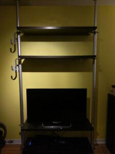 Multi Purpose (TV stand, books, clothes...) adjustable Shelf