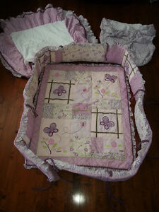 Cocalo Sugar Plum Crib Bedding + many accessories (see all pics)
