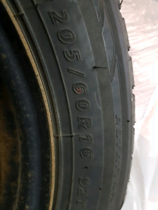 205/60R16 Winter Tires with rims