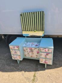 Vintage shabby chic'ed dressing table