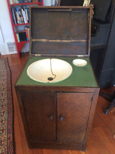 Unique antique Bed and Breakfast sink cabinet