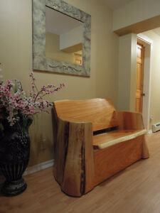 cedar tree benches made locally Comox / Courtenay / Cumberland Comox Valley Area image 9