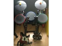 Drum and guitar bundle Kit for PS3