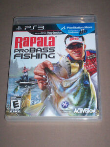 RAPALA PRO FISHING ROD & GAME PS3 DONGLE INCLUDED - RARE!