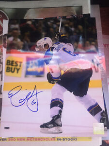 Erik Johnson signed 8x10