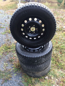 225/60/16 Winter Tires and Steel Rims *****SOLD******