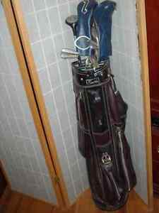 Golf bag, or cart or travel golf bag or used clubs