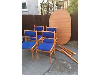 TABLE AND 4 CHAIRS ** FREE DELIVERY AVAILABLE WEDNESDAY DAYTIME **