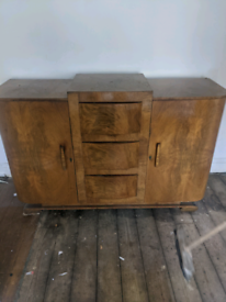 Solid walnut sideboard unit. Can deliver free