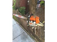 Stihl ms 440 Professional Chainsaw Sthil new bar chain Private use may exchange
