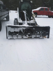 "84"" skid steer snowblower"