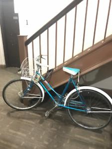 Vintage bike women's bicycle with basket