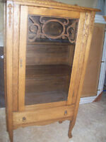 Antique china plate cabinet