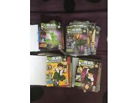 c. 90 x Ben 10 magazines, Marbz game and hundreds of top trumps cards