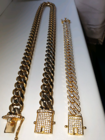 ☆CUBAN LINK CHAIN AND BRECELET☆