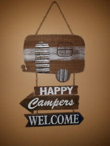 Camping Sign -  HAPPY CAMPERS WELCOME