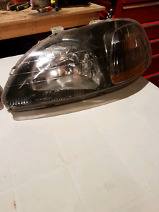 96 to 98 civic black housing headlight