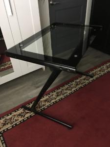 Table de travail en verre