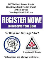 Beaver Scout Spaces still available