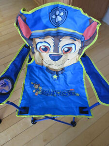 """Paw Patrol..""""Chase"""" Folding Camp Chair, NEW"""