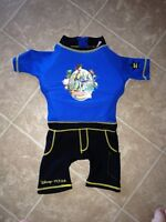 Buzz Lightyear Toddler Flotation Trainer Swimsuit - Size Small.