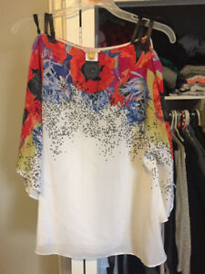 Anthropologie - Leifsdottir Heartsease Poppy Print Top - Size 2