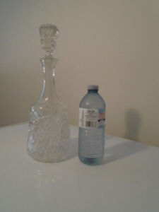 VINTAGE, PINWHEEL, LEAD CRYSTAL DECANTER