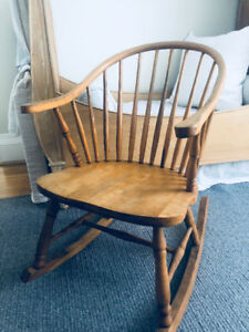 Vintage Rocking Chair Solid Wood Sturdy 1920s