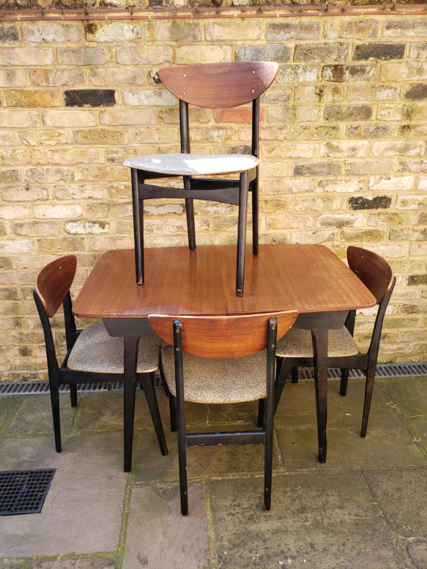 Vintage Retro 50 S Dining Table And Chairs Nathan Brand Like G Plan In Hackney London Gumtree
