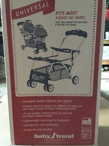 Double stroller for twin car seats!
