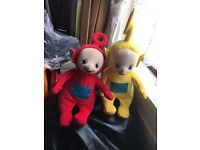 Cuddly po and lala teletubbies