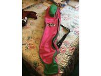 Debeer pink and green lacrosse stick bag
