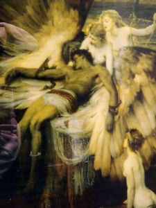 LAMENT FOR ICARUS Herbert Draper PRINT FRAMED nymphs MYTHICAL Cambridge Kitchener Area image 1