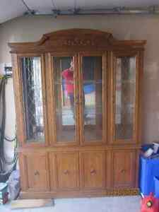 Oak China Hutch Kingston Kingston Area image 1