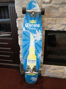 "Corona 40"" Long Skateboard Longboard w/ Grip Deck -Works Great"