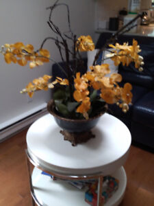 Artificial Flowers in a good size pot.