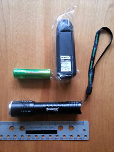 Tactical LED Flashlight with Battery & Charger Camping Walks
