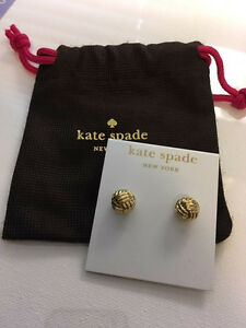 KATE SPADE Know The Ropes Knot Studs / Earrings