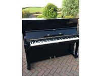 Yamaha U1 black upright piano. Belfast pianos...