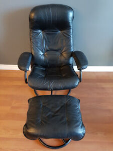 Fauteuil inclinable vrai cuir 100% real leather reclinable chair