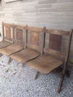 Vintage Theatre/Church seats for sale $125