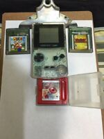 gameboy color transparent , 3 bon jeux