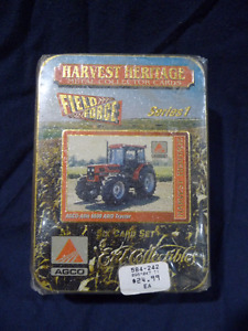 John Deere - Agco tractors - Metal Collectors cards