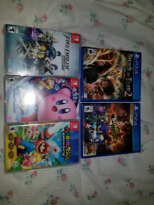 Nintendo Switch and PS4 Games
